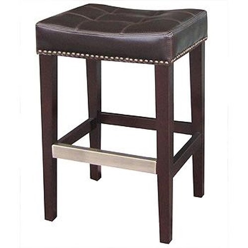 Four Hands Ashford Sean Bicast Leather Counterstool w/ Kickplate