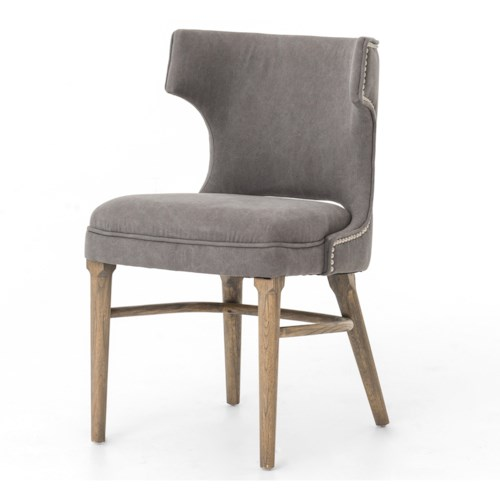 Four Hands Ashford Task Chair with Dark Moon Upholstery