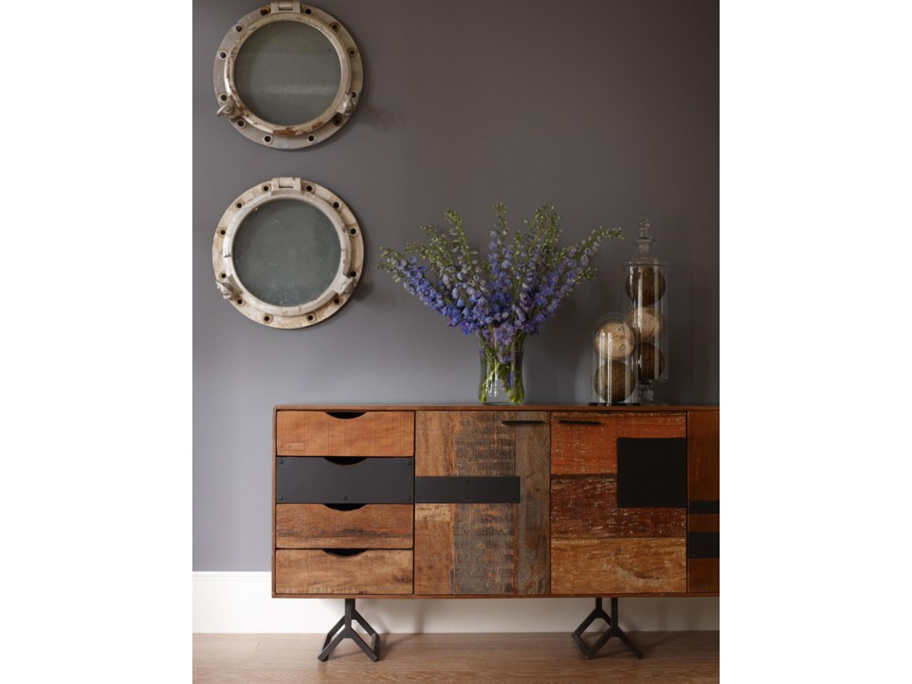 Four Hands Bina Gonze Console With  Doors Olindes Furniture - Bina office furniture