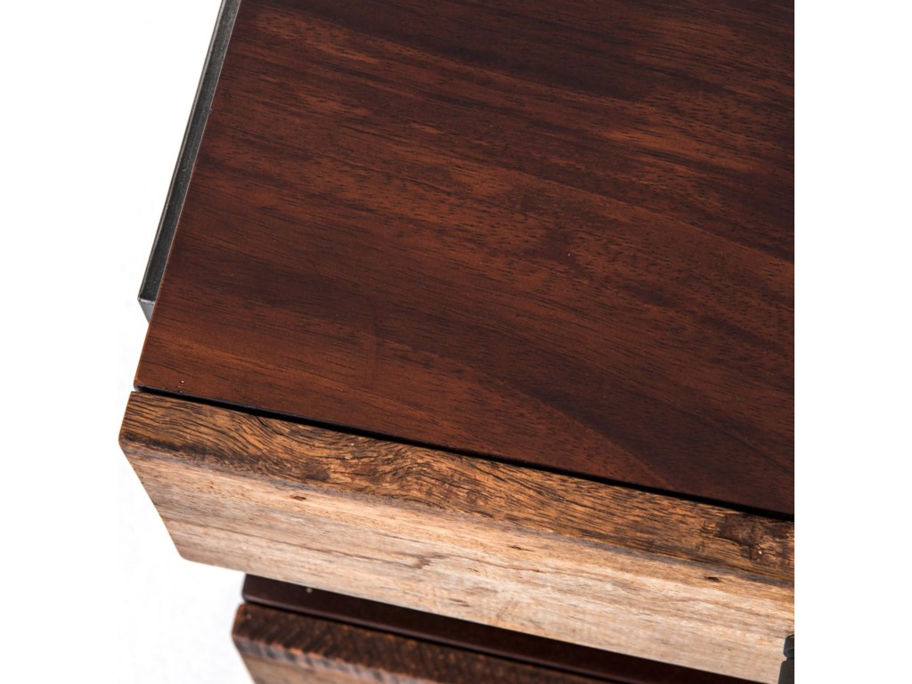 Four Hands Bina Milo Reclaimed Wood End Table Olindes Furniture - Bina office furniture