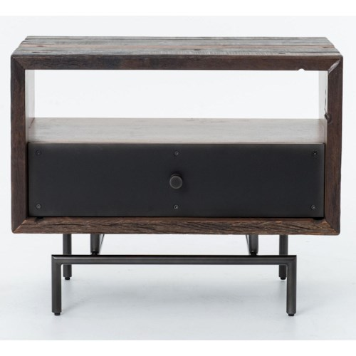 Four Hands Bina Nash Open Side Table w/ Metal Legs