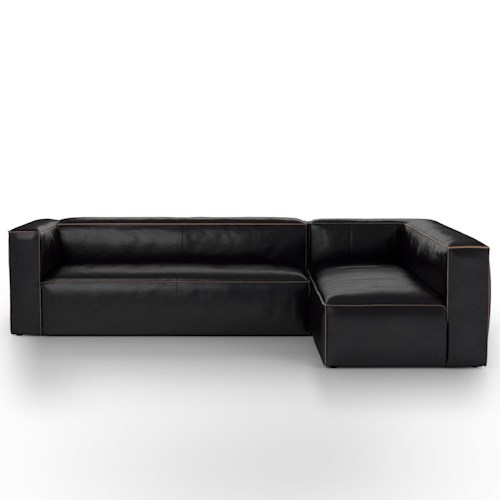 Four Hands Carnegie Nolita Corner Sofa with Contrast Stitch Welt