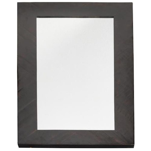 Four Hands Hadley Suki Tall Mirror with Burnished Black Wood Frame