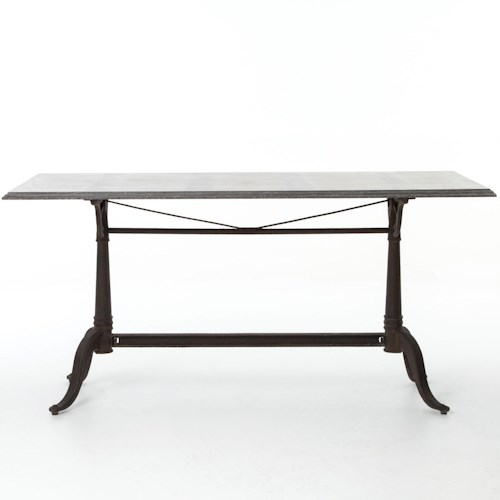 Four Hands Durham Parisian Dining Table with Bluestone Top