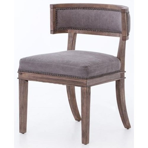 Four Hands Kensington Distressed Carter Dining Chair w/ Nailhead Trim