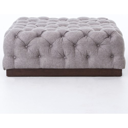Four Hands Kensington Tufted Plateau Cocktail Ottoman