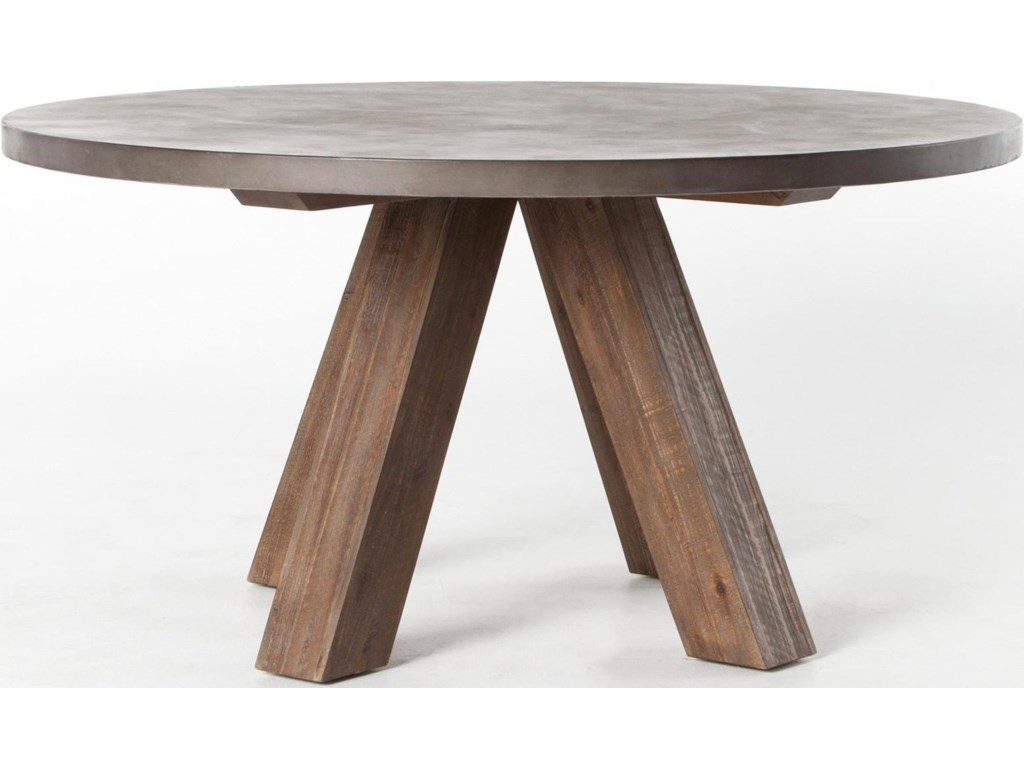 Concrete Top Dining Tables Four Hands Patten Chatham Dining Table With Concrete Top