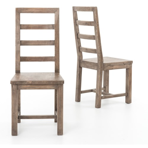Four Hands Post and Rail Ladder Back Dining Side Chair
