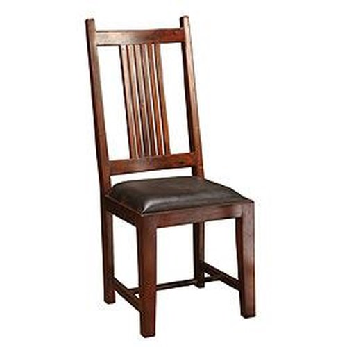 Four Hands Provence Dining Chair w/ Leather Seat
