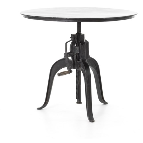 Four Hands Rockwell Crank Adjustable Side Table with Cabriole Legs