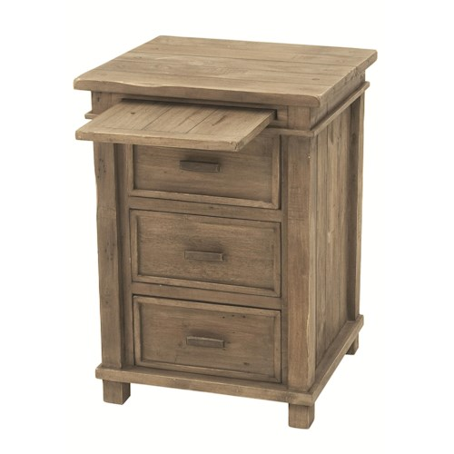 Four Hands Settler 3-Drawer Bedside Cabinet with Pull-Out Tray