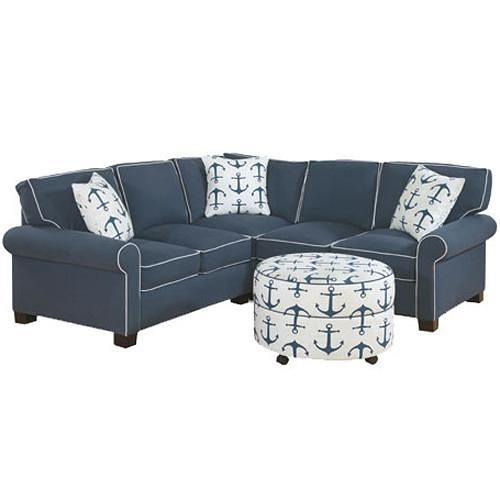 Four Seasons Furniture Alexandria Casual Fully Upholstered Sectional With Block Feet Jordan 39 S
