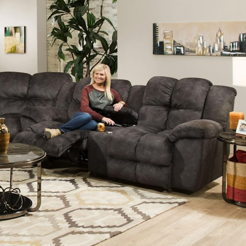 Franklin 461 Reclining Console Loveseat