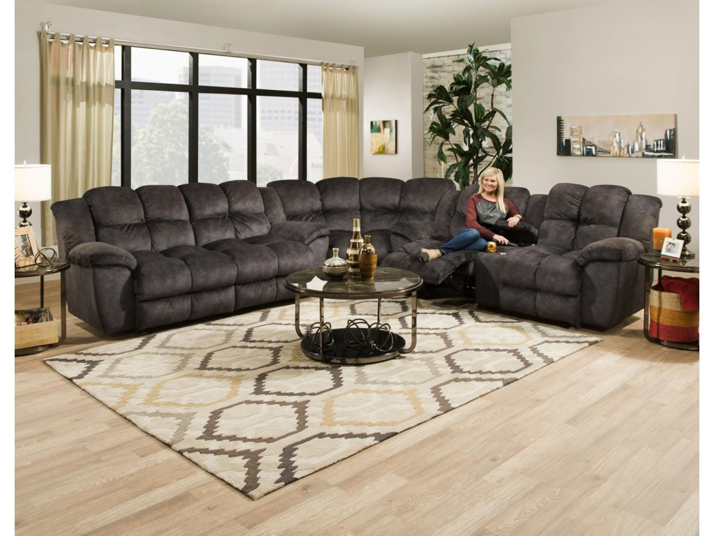 Shown as Part of a Sectional Sofa Configuration