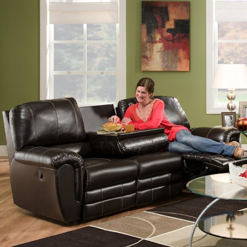 Franklin 463 Casual Double Reclining Sofa with Drop Down Console