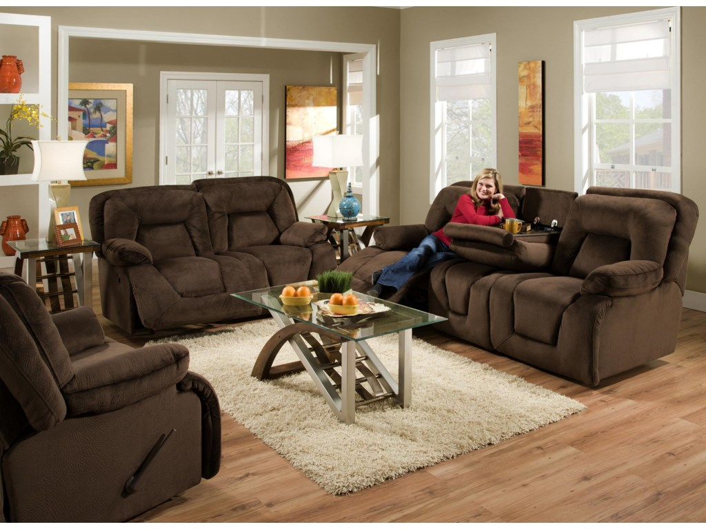 Shown with Coordinating Collection Loveseat. Collection Recliner Shown Left Corner. Sofa Shown May Not Represent Exact Features Indicated