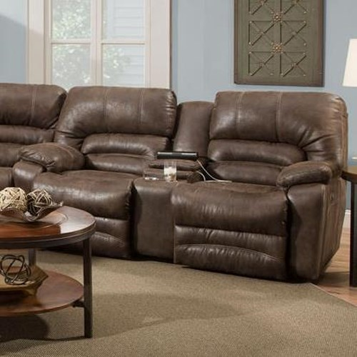 Franklin Legacy Reclining Console Loveseat with Cup-Holders