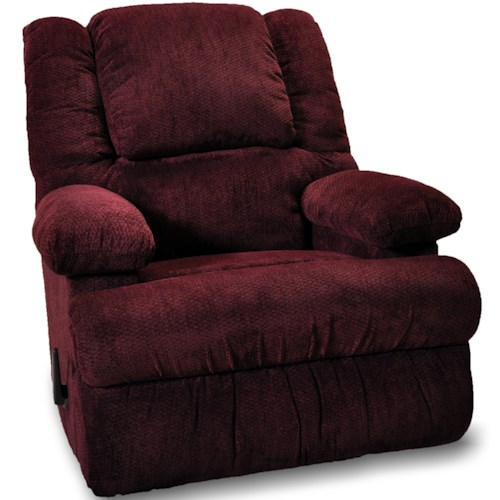 Franklin Clayton Casual Rocker Recliner with Two Storage Arms