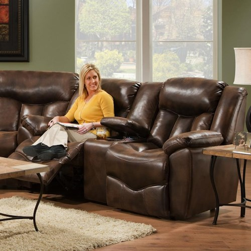 Franklin 564 Reclining Console Loveseat