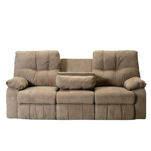 Franklin 565 86 Inch Reclining Sofa with Pillow Arms