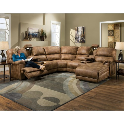 Franklin 572 Reclining Sectional Sofa with Chaise