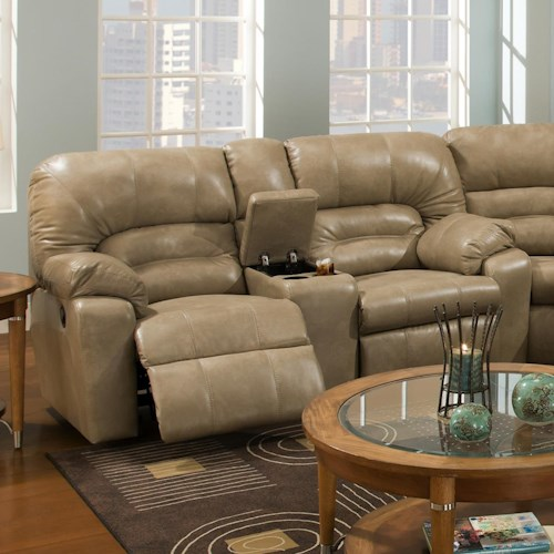 Franklin 596 Reclining Console Loveseat