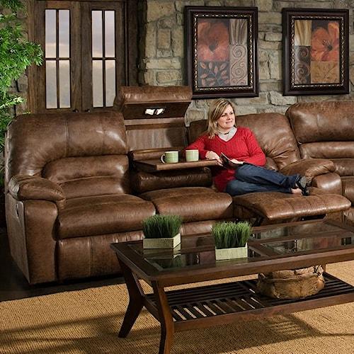 Franklin 596 Motion Sofa with Lights & Storage Drawer