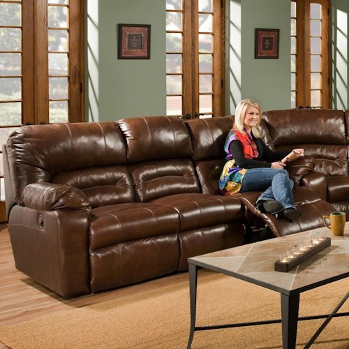 Franklin 596 Reclining Sofa with Table