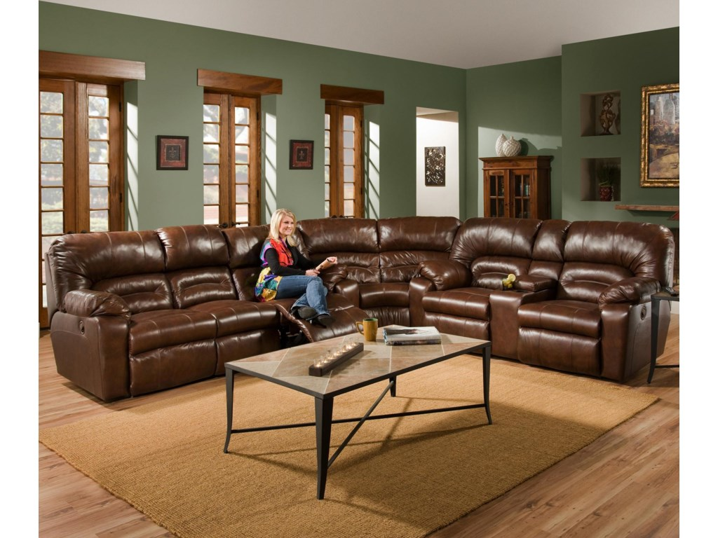 Shown as Part of Sectional Sofa with Matching Wedge and Reclining Console Loveseat