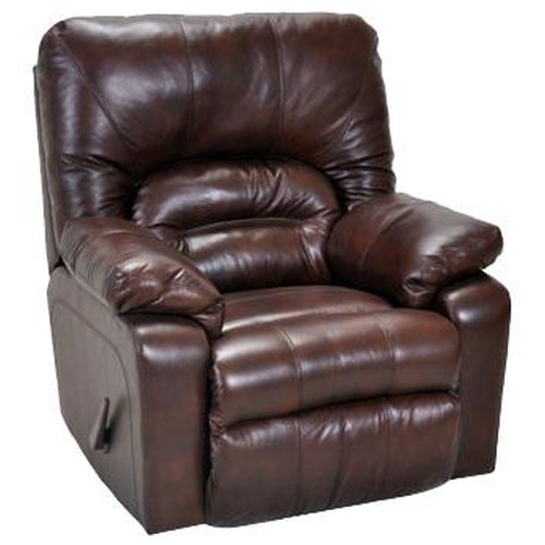 Franklin 596 Casual Bonded Leather Rocker Recliner