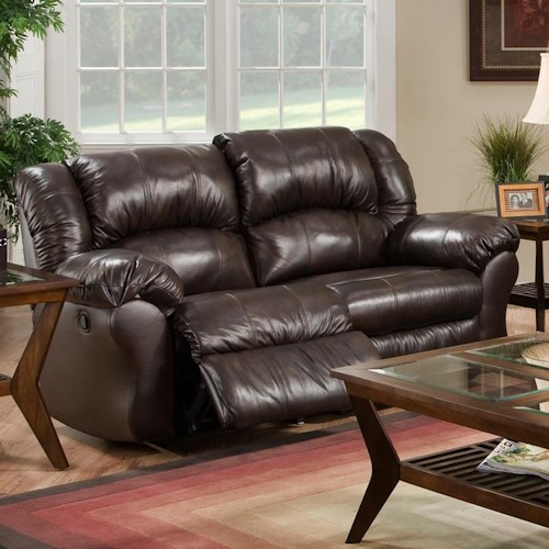 Franklin 691 Rocker Recliner Loveseat with Pillow Arms