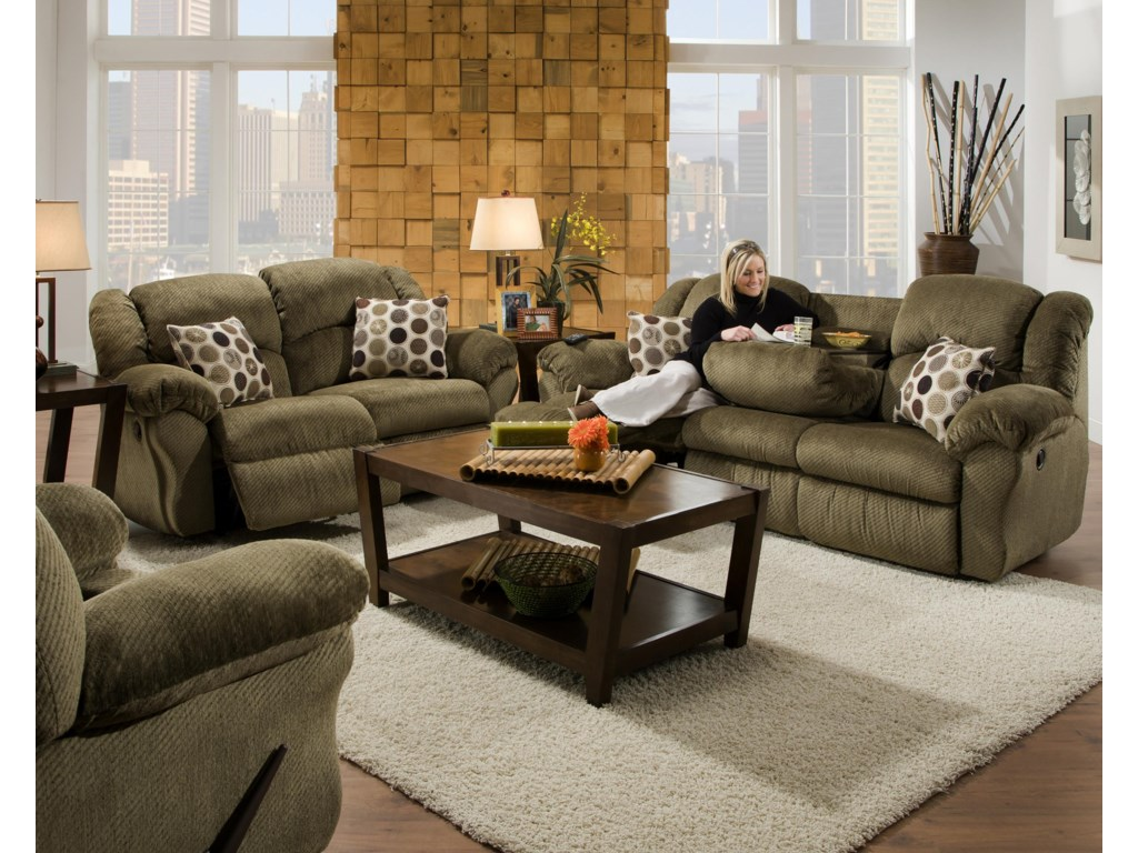 Shown with Coordinating Collection Loveseat. Recliner Shown Left Corner.