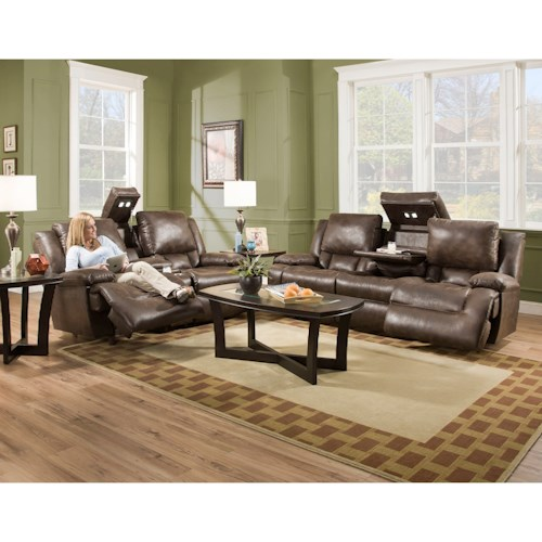 Franklin Excalibur Reclining Living Room Group