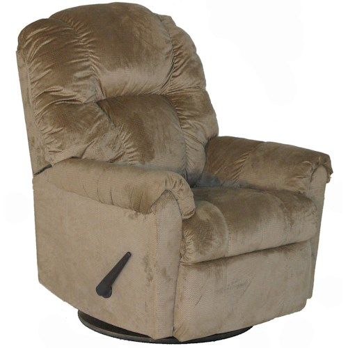 Franklin 7527 Casual Ruben Rocker Recliner with Pillow Arms