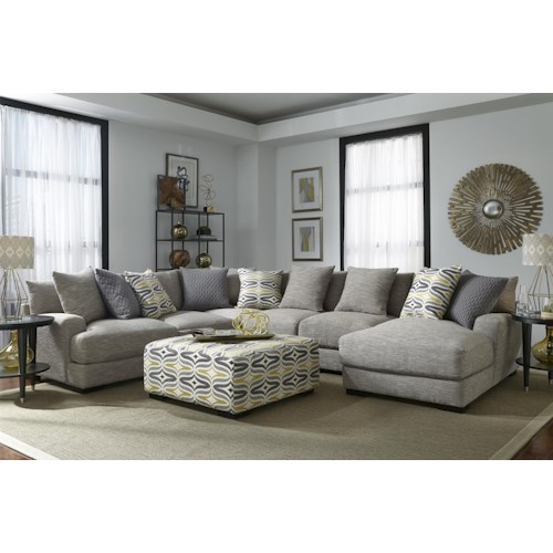 Franklin Barton Sectional Sofa with 5 Seats and Chaise