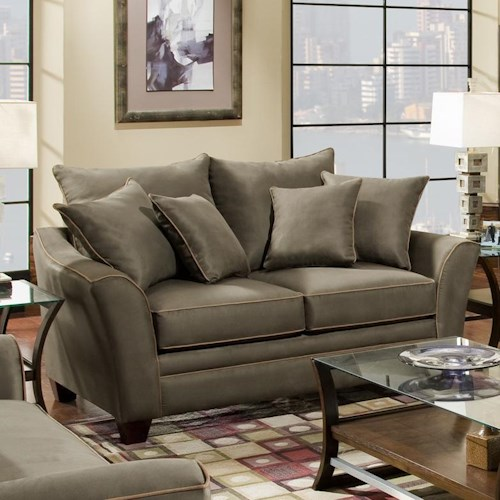 Franklin 811 Endura Upholstered Loveseat with Flared Arms