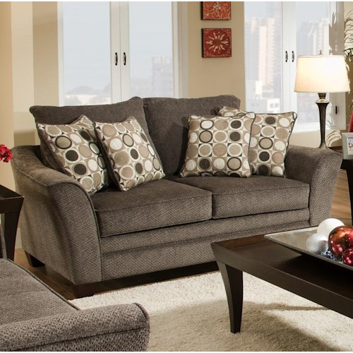 Franklin 811 Abbot Upholstered Loveseat with Flared Arms