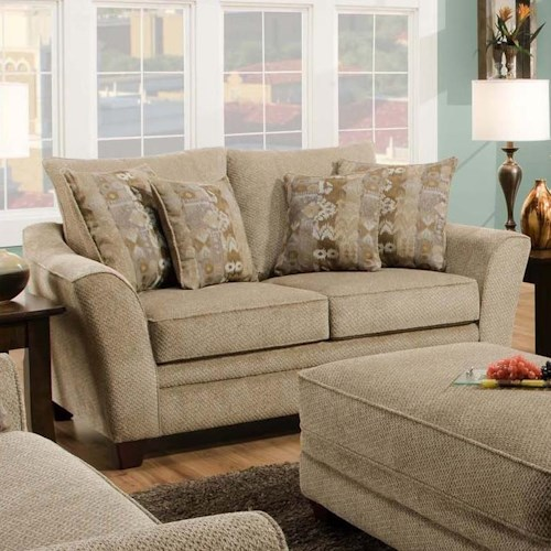 Franklin 811 Ashland Upholstered Loveseat with Flared Arms