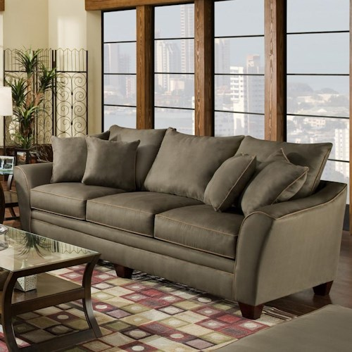 Franklin 811 Endura 3-Seat Stationary Sofa with Flared Arms