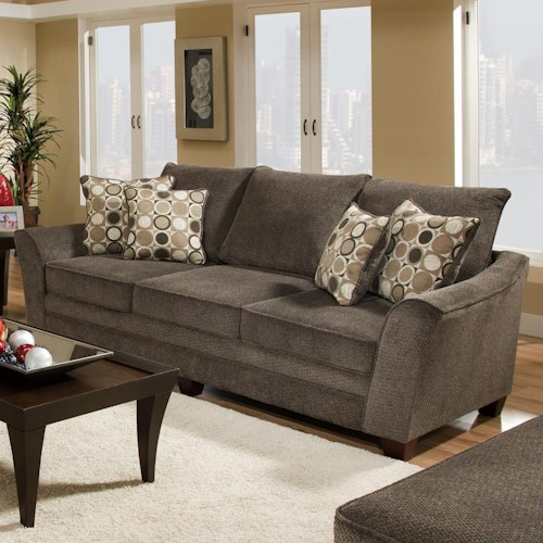 Franklin 811 Abbot 3-Seat Stationary Sofa with Flared Arms