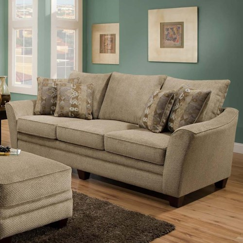 Franklin 811 Ashland 3-Seat Stationary Sofa with Flared Arms