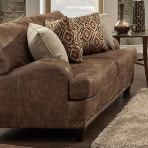 Franklin 848 Loveseat with Traditional Style