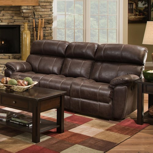 Franklin Butler Double Reclining Sofa for Family Rooms