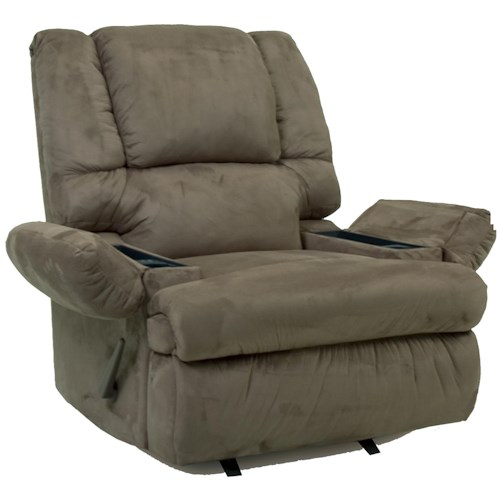 Franklin Rocker Recliners 5598 Chaise Rocker Recliner with Storage Arms