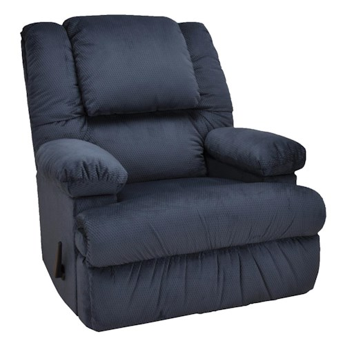 Franklin Rocker Recliners Rocker Recliner with Lumbar and Seat Massage and Frosty Fridge