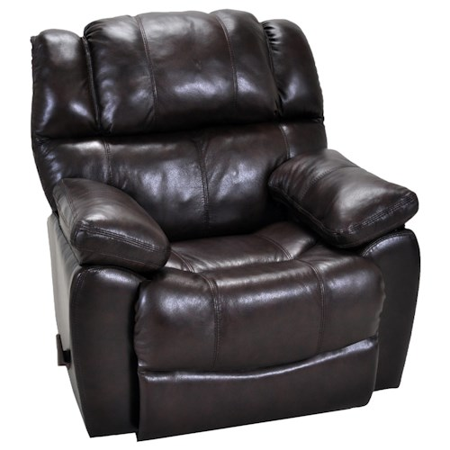 Franklin Rocker Recliners Comfortable Rocker Recliner with Sport-Style Seam Stitching