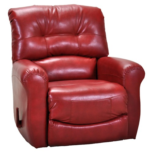 Franklin Rocker Recliners Contemporary Rocker Recliner with Tufted Back Accent