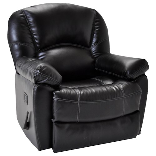 Franklin Rocker Recliners Modern and Casual Rocker Recliner