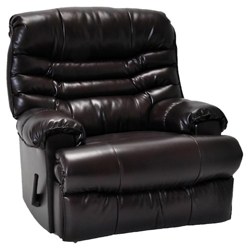 Franklin Chaise Wall Recliners Comfortable Wall Recliner with Multi-Channeled Seat Back