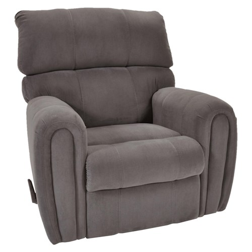 Franklin Chaise Wall Recliners Casual Styled Wall Recliner with Smooth Rounded Arms
